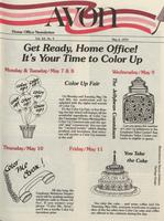 Avon home office newsletter [May 1979]
