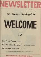 Newsletter / Avon Products, Inc., Springdale, Ohio [September 1971]
