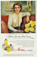 Advertisement featuring Mrs. Byron Harvey Jr.