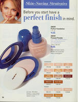 Call Back Brochure Page featuring Perfect Wear Foundation