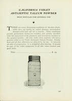 California Violet Antiseptic Talcum Powder