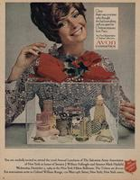 Avon Christmas advertisement with the Salvation Army