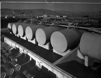 Tank farm looking north at DuPont Company South San Francisco Plant