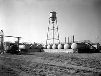 Tank farm and water tower at DuPont Company South San Francisco Plant