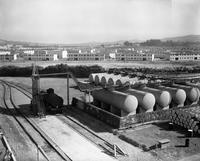 Tank farm looking west at DuPont Company South San Francisco Plant