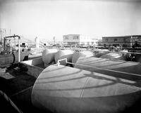 Tank farm looking south at DuPont Company South San Francisco Plant