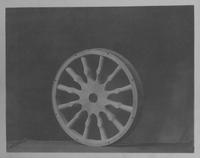 High-priced passenger car wheel with embossed spokes
