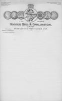 Hoopes, Bro. & Darlington letterhead