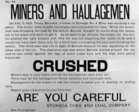Notice to miners and haulagemen