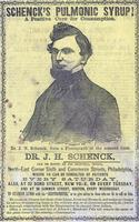 Front of trade catalog advertising the effects of Schenck's Pulmonic Syrup