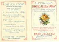 Dr. F.C. Renner's rose jelly soap