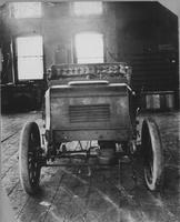 Front view of 1901 Charles Greuter designed automobile at Holyoke, Mass.