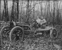 Guy Reynolds and Douglas Scott test driving the 1909 Matheson Model 17