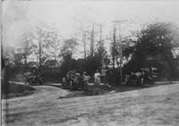 Automobiles on the road during 1905 Long Island Auto Club Run