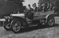 Group of Freemasons in Matheson automobile