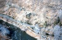 Powder mills and other structures upstream from Hagley Museum on Brandywine Creek in Wilmington, Del.
