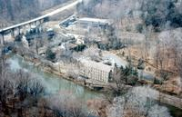 Hagley Museum and J.H. Tyler McConnell Bridge over Brandywine Creek in Wilmington, Del.