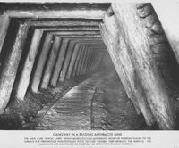 Gangway in a Reading Anthracite Mine