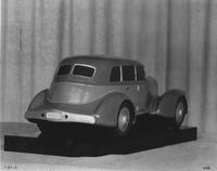1931 model car, rear side view