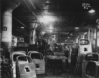 Automobile doors on assembly line