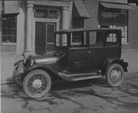 Automobile in front of E.G. Budd Manufacturing Company