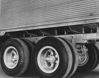 Detail of side of trailer and tires
