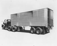 Truck trailer, side view