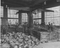 Workers in wheel factory