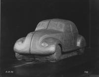 1934 model car, front side view