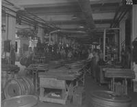 Assembly line in wheel factory