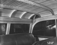 Wartime wooden automobile, interior roof shot