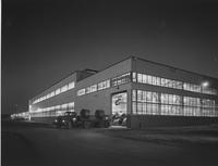 Night view of Budd's Automotive Division plant at Gary, Indiana