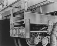 Undercarriage of truck trailer