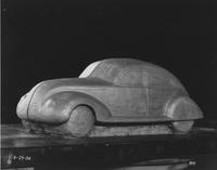 1934 model car, side front view