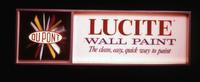 DuPont Lucite wall paint. The clean, easy, quick way to paint