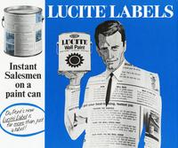 Advertisement for DuPont Lucite wall paint labels