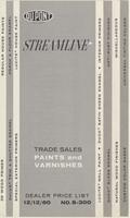 Streamline; Trade Sales paints and varnishes