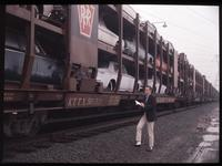 Pennsylvania Railroad auto train cars