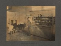 Chemical laboratory of dye house