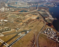 Construction of runway at Philadelphia International Airport