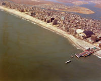 Beach and cityscape of Atlantic City, New Jersey