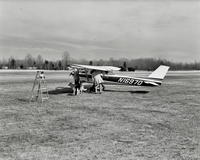Ground view of Cessna 150 airplane at Pitman Airport in Pitman, New Jersey