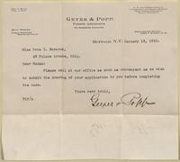 Geyer & Popp to Nora Edwards, 1910-01-13