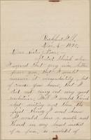 Annie Keister to Nora Edwards, 1895-12-04