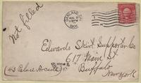 Envelope addressed to Edwards Skirt Supporter Co., Buffalo, N.Y.