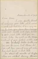 Retta Hildebrant Weckerly to Nora Edwards, 1899-03-26