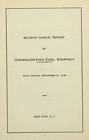 Annual Report of Consolidation Coal Company, 1941
