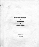 The John Morton Poole Company: A Preliminary Report for Industrial Archeology