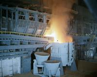 Steel production at Sparrows Point steel plant