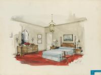 Bedroom at Hotel Pierre for H.R.H. Prince Philip (New York, N.Y.)